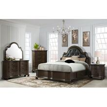 Avery Queen Bedroom Set: Queen Bed, Nightstand, Dresser & Mirror