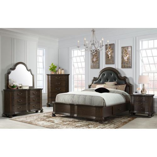Elements - Avery Queen Bedroom Set: Queen Bed, Nightstand, Dresser & Mirror