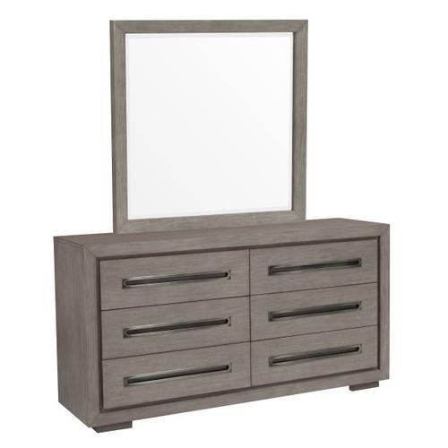 Modern Dresser Mirror in Natural Taupe
