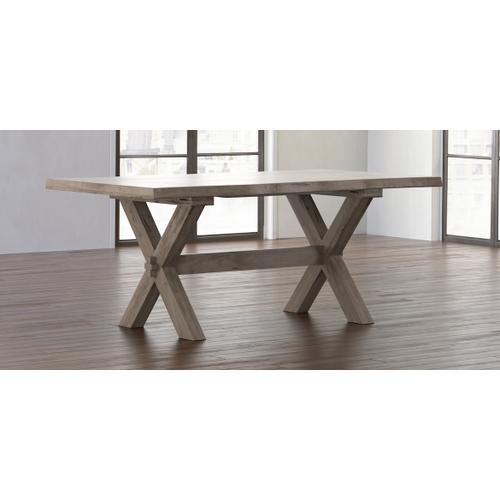 Crossbuck Maple Live Edge Dining Table