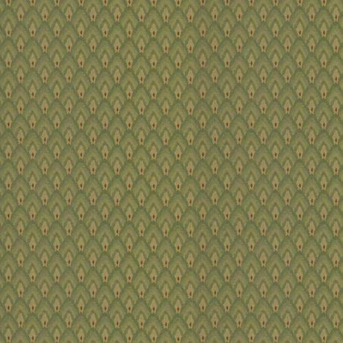 Flash Furniture - 18.5''W Church Chair in Georgetown Laurel Fabric - Gold Vein Frame