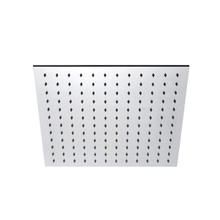 "INOX stainless steel 15 3/4"" square shower head, Satin finish"