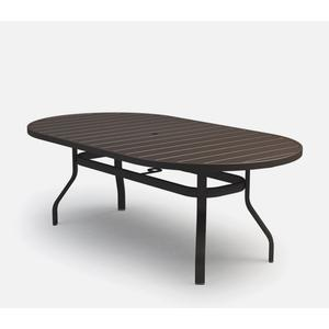 """42"""" x 82"""" Oval Dining Table (with Hole) Ht: 27.5"""" 37XX Universal Aluminum Base (Model # Includes Both Top & Base)"""