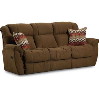 Montgomery 2-Arm, Double Reclining Sofa With Table and 2-Motor Massage