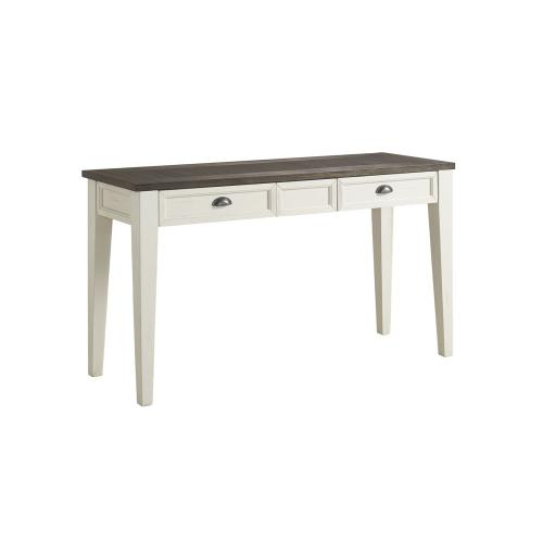 Cayla Sofa Table, Dark Oak/White