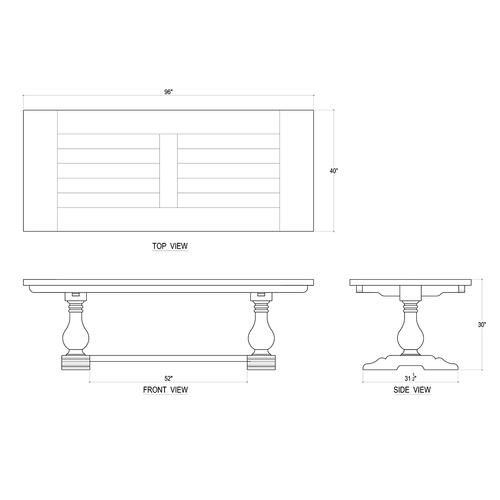 Trestle Dining Table 96''- STW