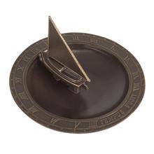 See Details - Sailboat Sundial Birdbath - French Bronze
