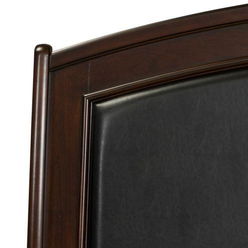 King Panel Leather Headboard