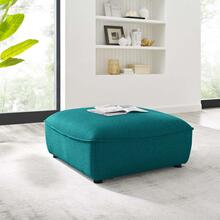 Comprise Sectional Sofa Ottoman in Teal