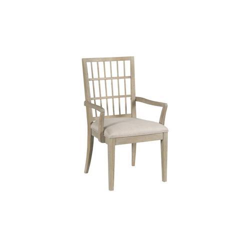 Symmetry Fabric Arm Chair