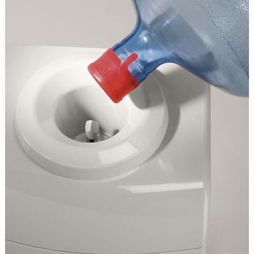 GE® ENERGY STAR® Qualified Hot and Cold Free-Standing Water Dispenser with Storage Compartment