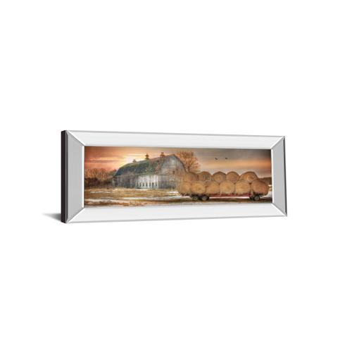 "Classy Art - ""Sunset On The Farm"" By Lori Dieter Mirror Framed Print Wall Art"