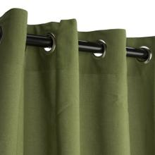 See Details - Sunbrella Spectrum Cilantro Outdoor Curtain with Grommets