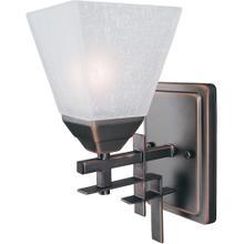 Wall Lamp, Dark Bronze W/frost Glass Shade,type A 60w