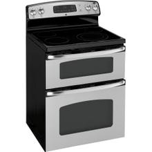"GE® 30"" Free-Standing Electric Dual Cavity Range (This is a Stock Photo, actual unit (s) appearance may contain cosmetic blemishes. Please call store if you would like actual pictures). This unit carries our 6 month warranty, MANUFACTURER WARRANTY and REBATE NOT VALID with this item. ISI 34275"