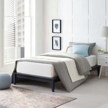 View Product - Lodge Twin Wood Platform Bed Frame in Gray