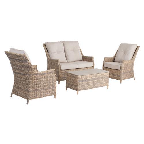 Faith 4 pc Love Seat Set Sunbrella Cushion Inclusive