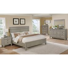 York 204 Solid Wood Construction Bedroom Set with Queen & King size Bed, Dresser, Mirror, Chest and Night Stand, King