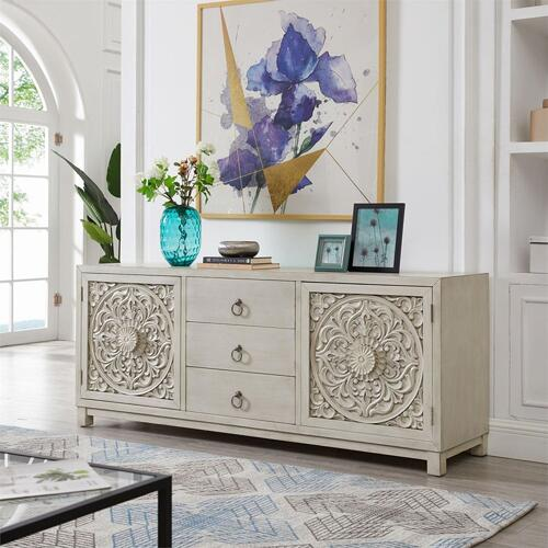 2 Door 3 Drawer Accent Cabinet