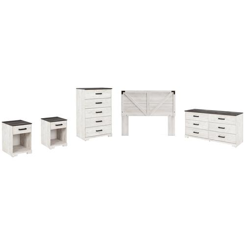Gallery - Queen Panel Headboard With Dresser, Chest and 2 Nightstands