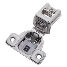 Soft Close 1-1/4 In. Overlay Face Frame Polished Nickel Hinge