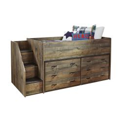 Trinell Twin Loft Bed With 6 Drawer Storage
