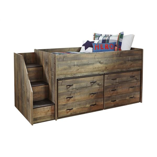 See Details - Trinell Twin Loft Bed With 6 Drawer Storage
