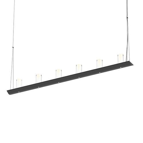 "Sonneman - A Way of Light - Votives LED Bar Pendant [Size=4', Color/Finish=Satin Black, Shade Size=4"" height x 2"" diameter]"