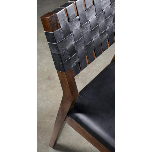 Mix-n-match Chairs - Woven Back Side Chair - Hazelnut Finish