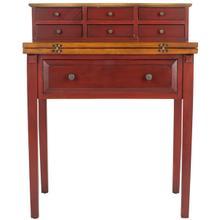See Details - Abigail Fold Down Desk - Egyptian Red / Oak