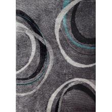 "Vibrant Hand Tufted Modern Shag Lola 11 Area Rug by Rug Factory Plus - 7'6"" x 10'3"" / Gray"