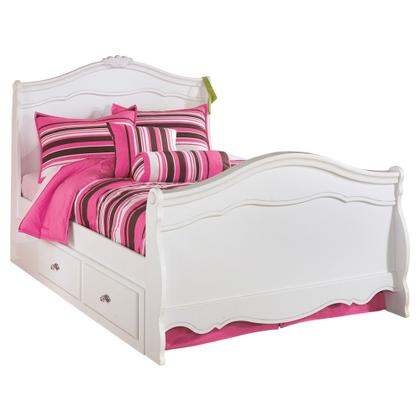 See Details - Exquisite Full Sleigh Bed With 4 Storage Drawers