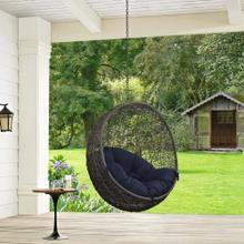 Hide Outdoor Patio Swing Chair Without Stand in Gray Navy