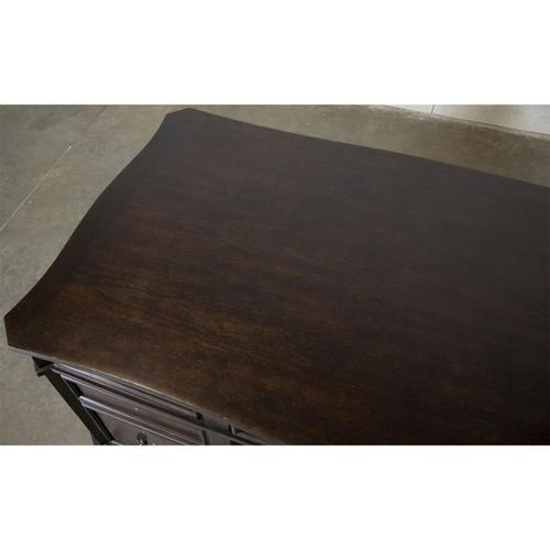 Rosemoor - Executive Desk - Burnt Caramel Finish