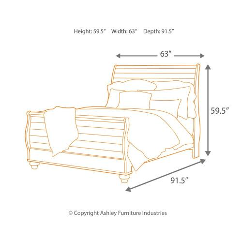 Signature Design By Ashley - Willowton Queen Sleigh Bed