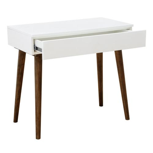 Mid-Century Modern Mini Desk in White