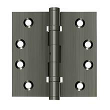 "4"" x 4"" Square Hinges, Ball Bearings - Antique Nickel"