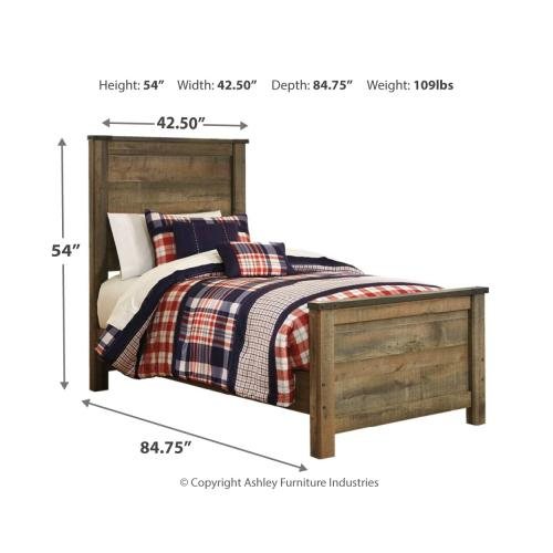 Trinell Twin Panel Bed With Mattress