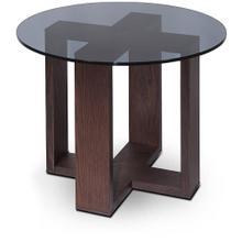 Modrest Heath - Modern Brown Oak Side Table