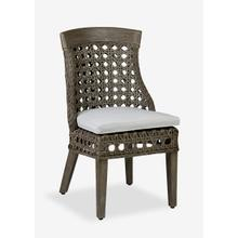 Sahara side chair w/ wood accent - Grey Wash - MOQ 2 (22x25.5x37) (package: 2pcs/box) price is per