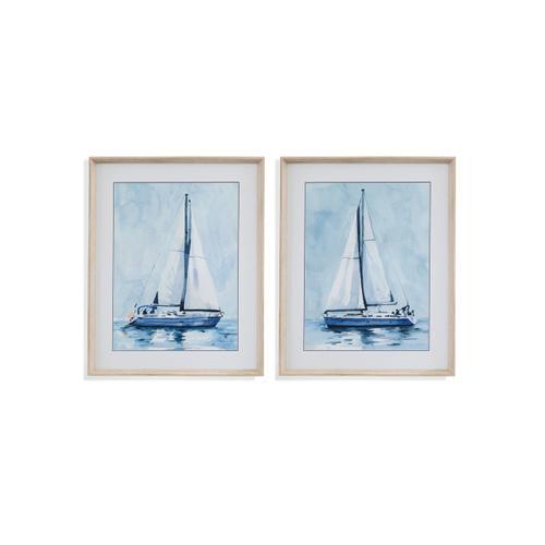 Bassett Mirror Company - 2 PC Lone Sailboat