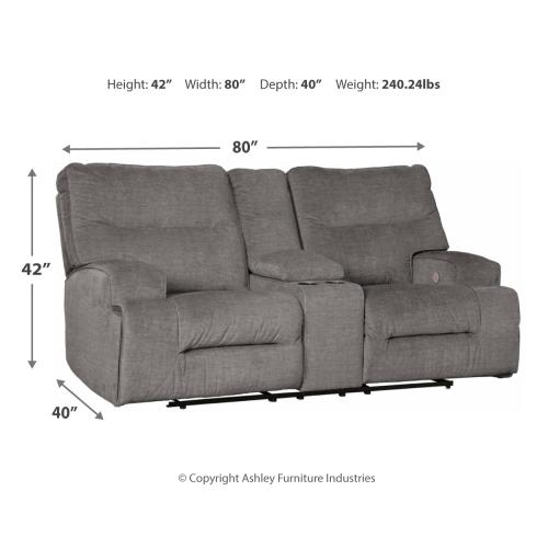 Coombs Reclining Loveseat With Console