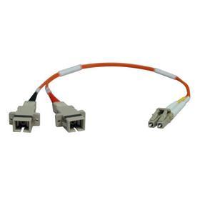 Duplex Multimode 50/125 Fiber Adapter (LC-SC M/F) 0.3M (1 ft.)
