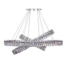 Crystal Elegance LED Chandelier // 3 Ovals