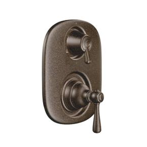 Kingsley oil rubbed bronze moentrol® with transfer valve trim