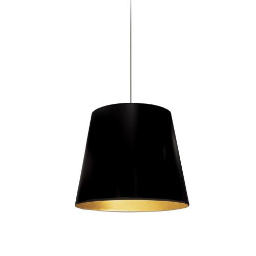 Product Image - 1lt Oversized Drum Pendant, Small - Blk/gld