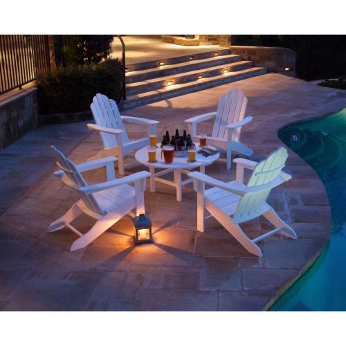 Hanover All-Weather 5-Piece Adirondack Chat Group - White, ADCHATSET5PCWH
