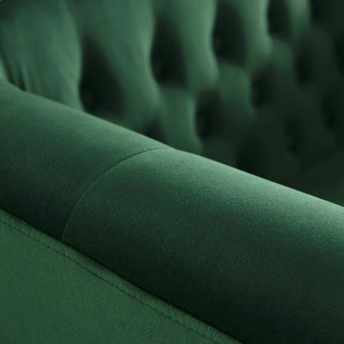 Prospect Performance Velvet Loveseat in Emerald