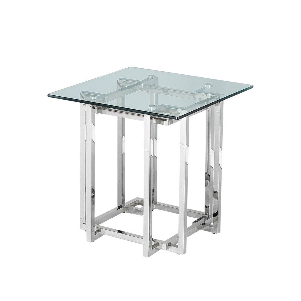 Stainless Steel Accent Table, Silver