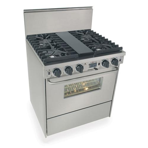 """Five Star - 30"""" Dual Fuel, Convect, Self Clean, Sealed Burners, Stainless Steel"""